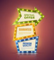 Light Premium Banners Set  vector