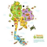 Thailand Map Poster