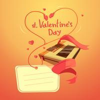 Dibujos animados retro del día de san valentín