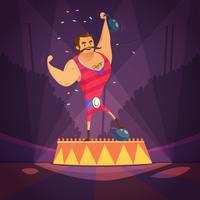 Ilustração de atleta de circo