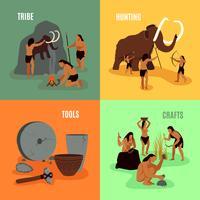 Âge de pierre préhistorique 2x2 Images