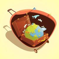 Reise-Cartoon-Konzept