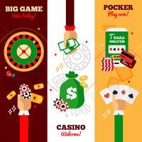 Casino ontwerpconcept banners