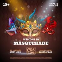 Masquerade Realistic Poster