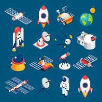 Isometrische Weltraum-Icons