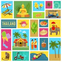 Thailand Tiled Poster vector