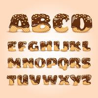 Frosted Chocolate Wafers alfabet Letters Set