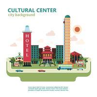 Fundo de cidade de centro cultural