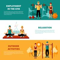 Fitness Horizontal Banners Set