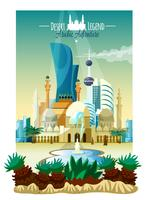 Arabic City Landscape Poster vector