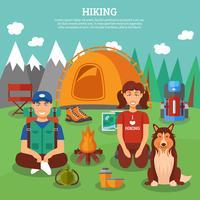 Hiking flat concept