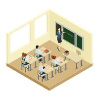 Skoleisometrisk illustration