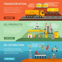 Banners Set Oil Petrol Industry