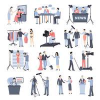 Pressmann und Betreiber-Icon-Set
