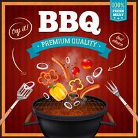 Affiche réaliste de barbecue
