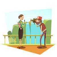 Jornalista retrô dos desenhos animados
