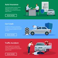 Auto Insurance Horizontal Banner Set