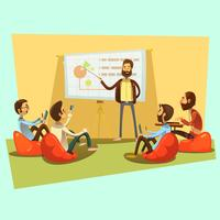 Ilustración de dibujos animados de reunión de negocios