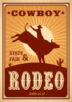 Advertentie Rodeo Poster
