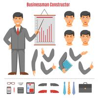 Businessman constructor set