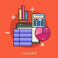 Calculer illustration conceptuelle Design