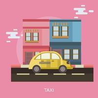 Taxi konzeptionelle Abbildung Design