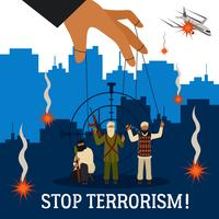 Halte au terrorisme Illustration