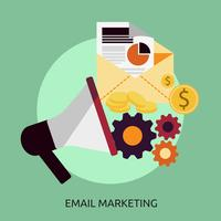 E-mailmarketing Conceptueel illustratieontwerp