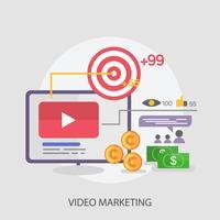 Video Marketing Conceptual Ilustración Diseño
