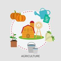 Landwirtschaft konzeptionelle Illustration Design