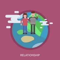 Beziehung konzeptionelle Illustration Design