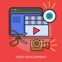 Video Development Conceptual illustration Design