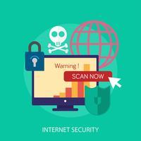 Internet seguridad conceptual ilustración diseño