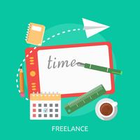 Freelance Conceptual illustration Design vector