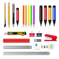 Stationery Realistic Set