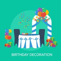 Birthday Decoration Conceptual illustration Design
