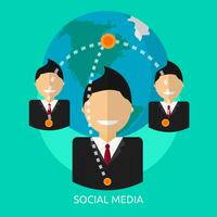 Social Media Conceptual illustration Design