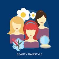 Belleza Peinado Conceptual Ilustración Diseño