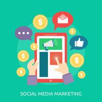Social Media Marketing Illustration conceptuelle Conception