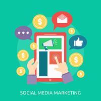 Media sociali che commercializzano progettazione concettuale dell'illustrazione