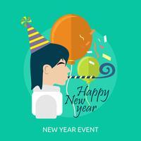 Nieuwjaarsgebeurtenis Conceptueel illustratieontwerp