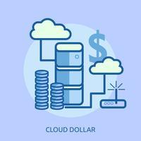 Cloud Bitcoin Conceptual Ilustración Diseño