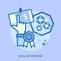 Euro Startup Conceptueel illustratieontwerp