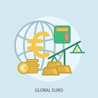 Global Euro Conceptual illustration Design