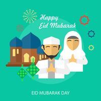 Ilustração conceitual de Eid Mubarak Day Design