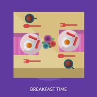 Conception conceptuelle de l'heure du petit déjeuner