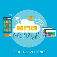 Cloud Computing Konceptuell illustration Design