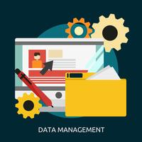 Data Management Conceptual illustration Design