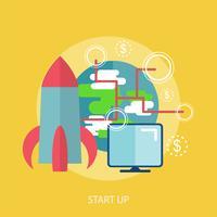 Starten Sie konzeptionelle Illustration Design