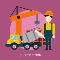 Construcción Conceptual Ilustración Diseño. vector